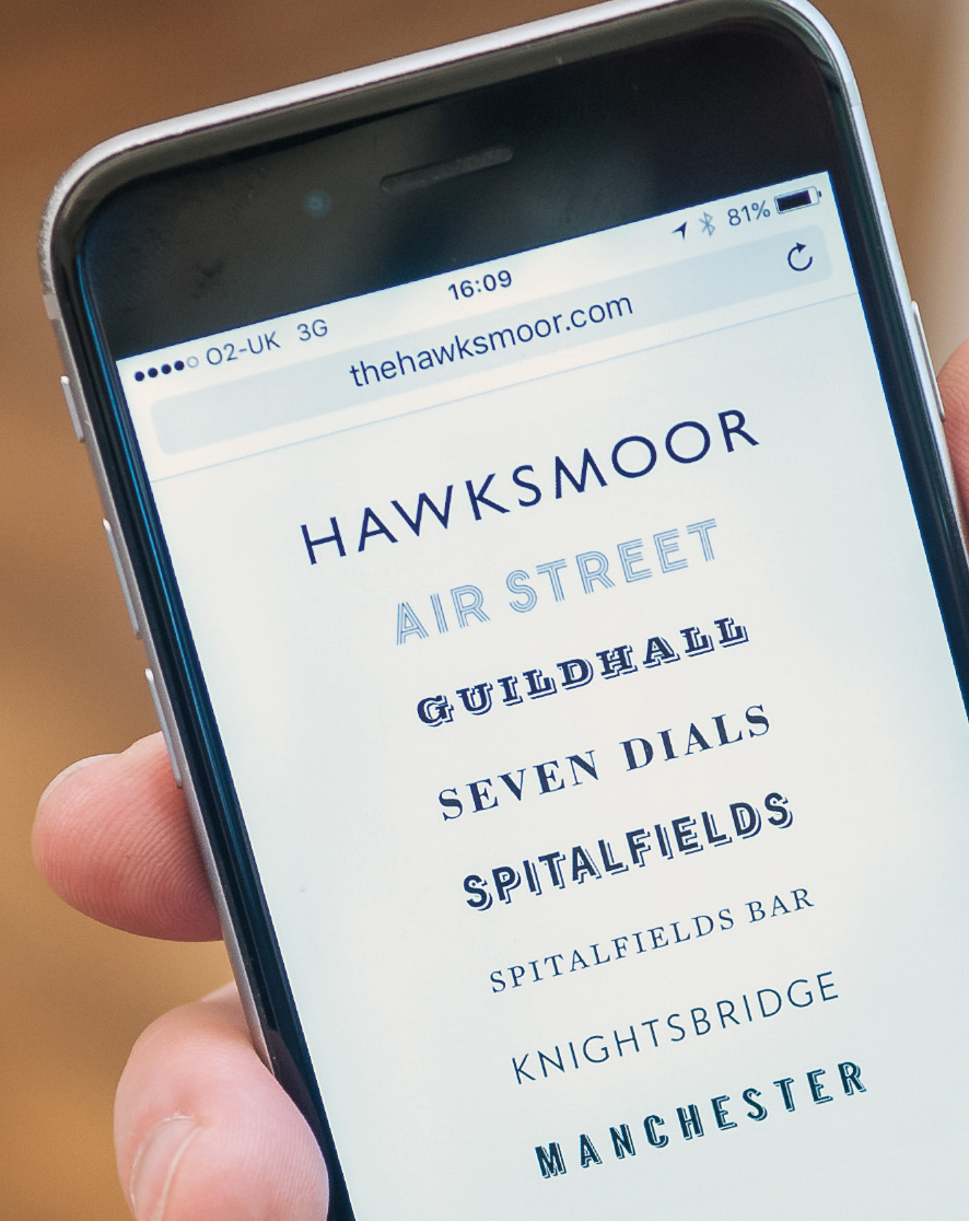 Responsive website for Hawksmoor by Saint Design