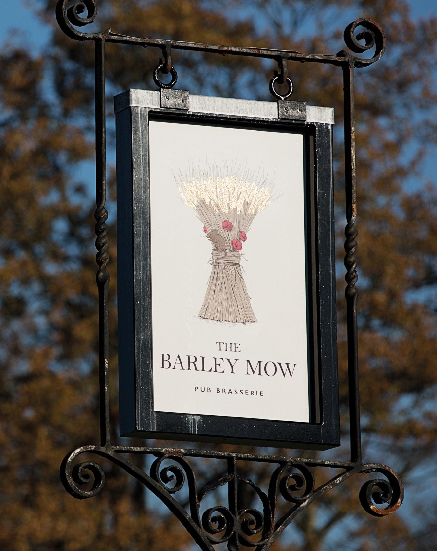 Pub swing sign for The Barley Mow by Saint Design