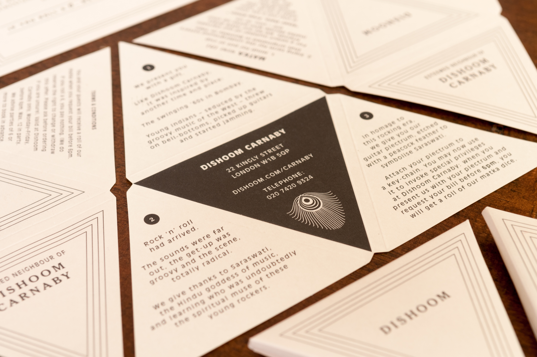 Product design and marketing collateral for Dishoom by Saint Design