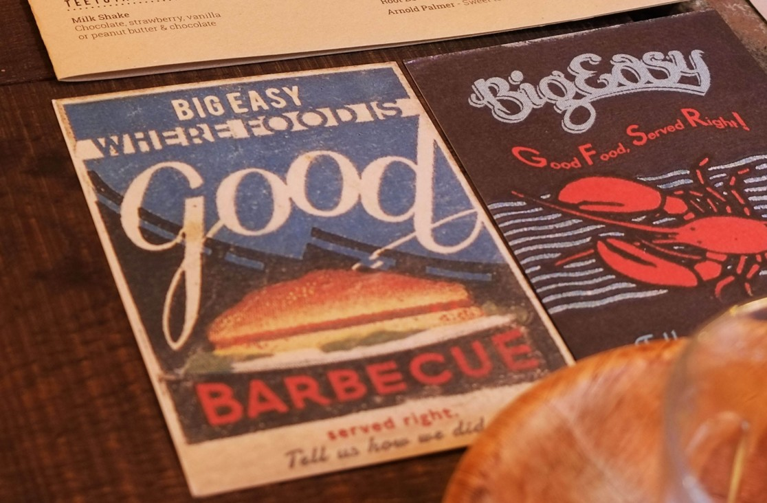 Various pieces of marketing collateral for Big Easy by Saint Design