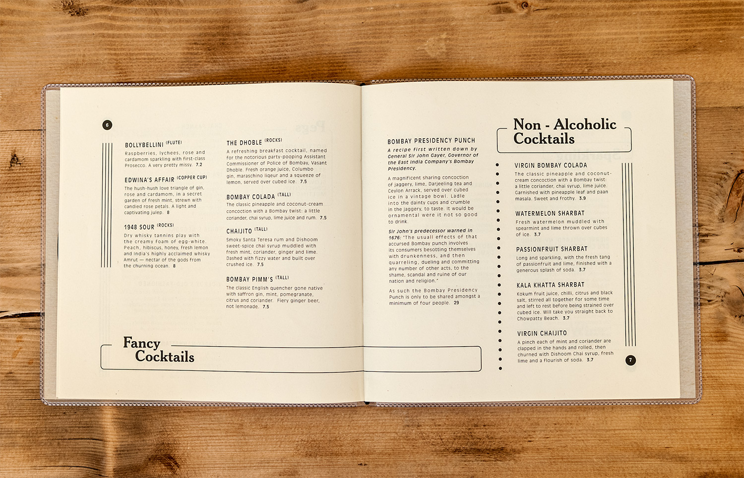 Menu design for Dishoom Carnaby by Saint Design