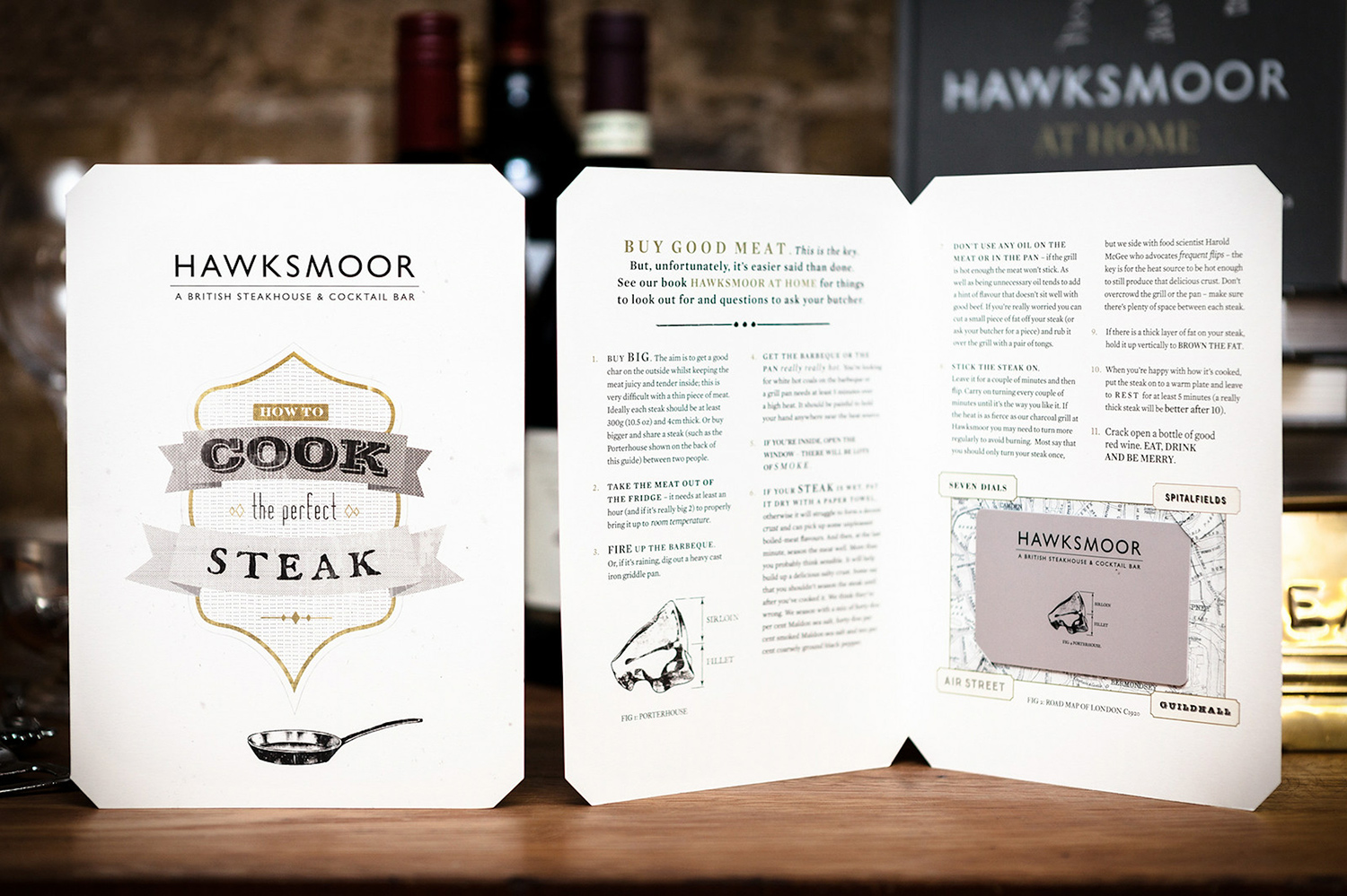 Marketing collateral for Hawksmoor by Saint Design
