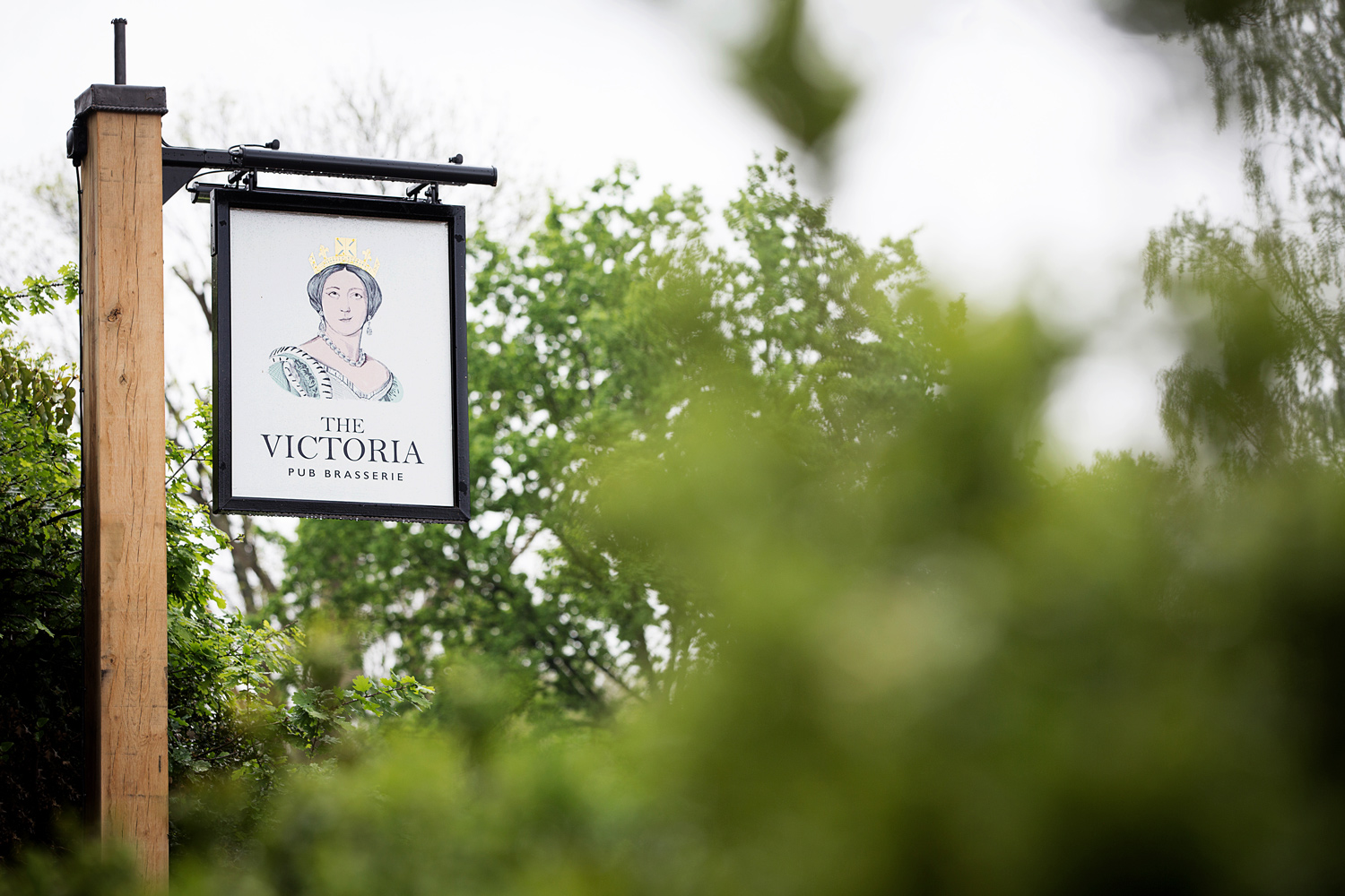 Pub swing sign for The Victoria, Oxshott by Saint Design
