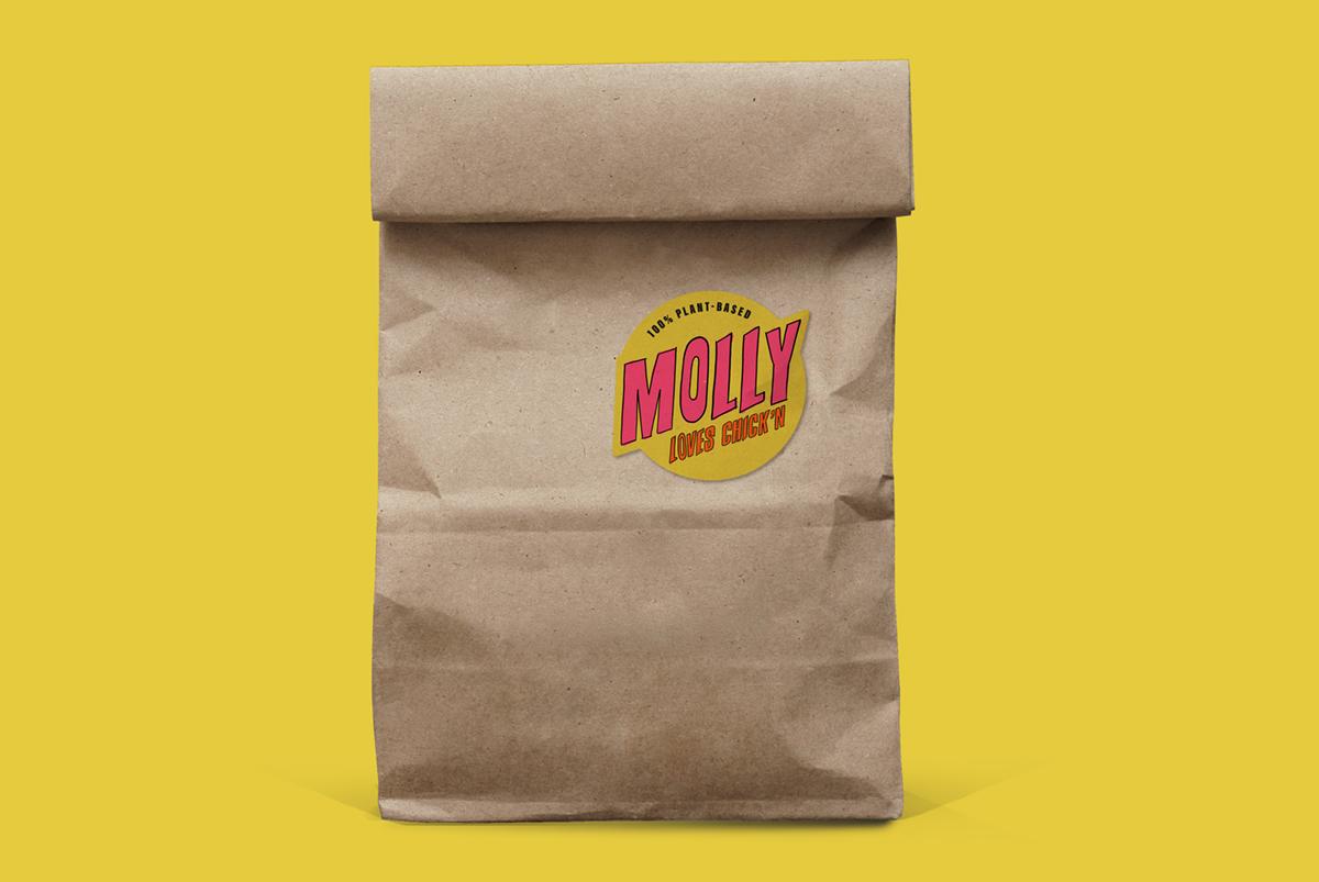 Vegan Branding Design for Molly Loves Chick'n by SAINT Design